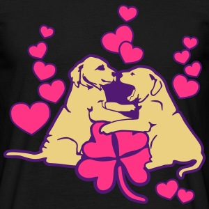 Dog Puppy Love Luck T-shirts - Mannen T-shirt