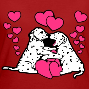 Dalmatian Dog Puppy Love T-shirts - Vrouwen Bio-T-shirt