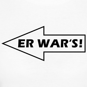 Er war's! - nach links T-Shirts - Frauen Bio-T-Shirt