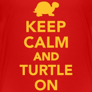 Keep calm and turtle on T-Shirts - Kinder Premium T-Shirt