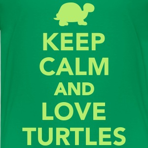 Keep calm and love turtles T-Shirts - Kinder Premium T-Shirt