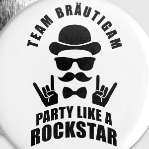 Team Bräutigam - Party like a Rockstar Buttons & Anstecker - Buttons mittel 32 mm