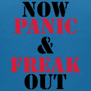 Now panic and freak out T-shirts - T-shirt med v-ringning dam