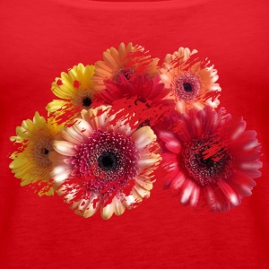 flowers Tops - Women's Premium Tank Top