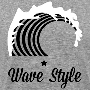 Wave Style Tee shirts - T-shirt Premium Homme