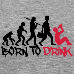 Born to Drink Evolution T-Shirts - Männer Premium T-Shirt