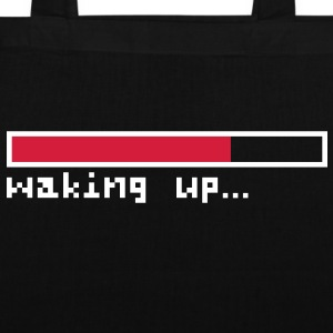 Waking up pixels Tote Bag - Stoffbeutel