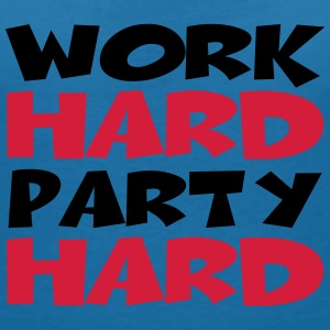 Work hard, party hard T-shirts - T-shirt med v-ringning dam