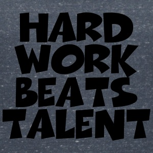Hard work beats talent T-Shirts - Women's V-Neck T-Shirt