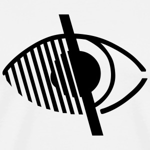 Blindness Symbol T-Shirts - Men's Premium T-Shirt