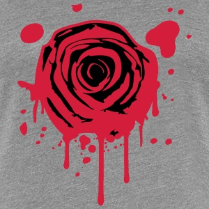 Red blood splashes KLEX graffiti rose T-Shirts - Women's Premium T-Shirt