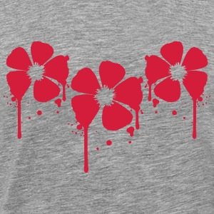 3 red flowers blood drop party graffiti design T-Shirts - Men's Premium T-Shirt