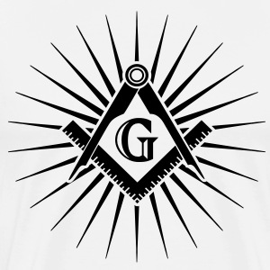Freemasonry, Square Compass, Great Architect, God Magliette - Maglietta Premium da uomo