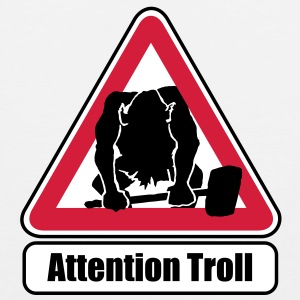 Attention Troll  tank top - Tank top premium hombre