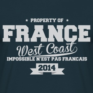 FRANCE west coast impossible n'est pas Fr Tee shirts - T-shirt Homme