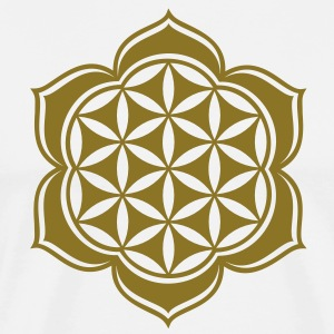 Flower of life, Lotus-Flower, vector, c, energy symbol, energy symbol Tee shirts manches longues - T-shirt Premium Homme