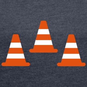Traffic Cones T-Shirts - Women's T-shirt with rolled up sleeves