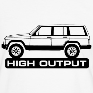 Jeep XJ High Output - Männer Kontrast-T-Shirt