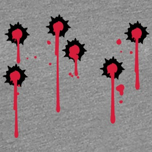 Hit shot many bullet holes T-Shirts - Women's Premium T-Shirt