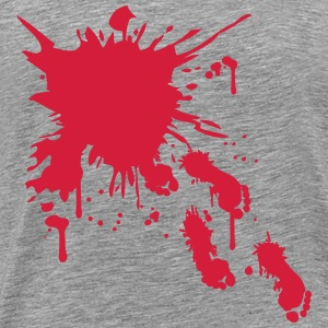 Crime scene blood footprints running walking away T-Shirts - Men's Premium T-Shirt