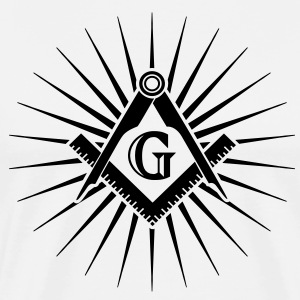 Freemasonry, Square Compass, Great Architect, God T-shirts - Mannen Premium T-shirt