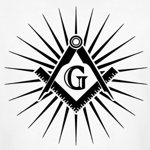 Freemasonry, Square Compass, Great Architect, God T-shirts - Mannen Bio-T-shirt