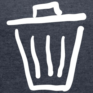Trashcan Icon T-Shirts - Women's T-shirt with rolled up sleeves