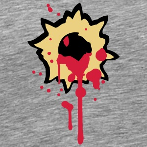 Bullet hole hit shot stabbed to death T-Shirts - Men's Premium T-Shirt