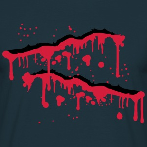 Blood wound splashes scratches slashed T-Shirts - Men's T-Shirt