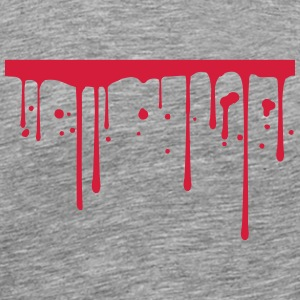 Blood drops underlined line T-Shirts - Men's Premium T-Shirt