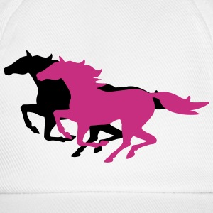 running horses Caps & Hats - Baseball Cap