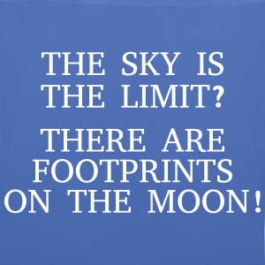 The sky is the limit? There are Footprints ... Bags & Backpacks - Tote Bag