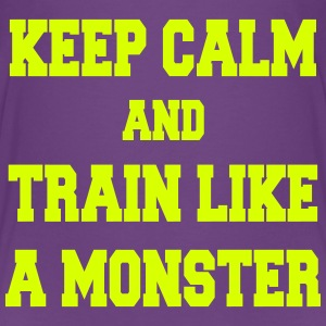 Keep Calm and Train like a monster Skjorter - Premium T-skjorte for barn