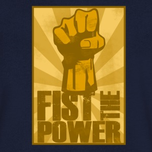 FIST THE POWER T-Shirts - Men's V-Neck T-Shirt