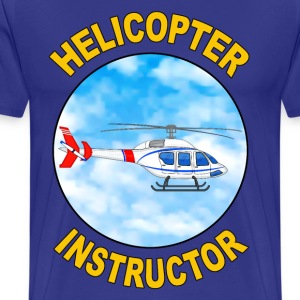 helicopter instructor Tee shirts - T-shirt Premium Homme