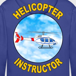 helicopter instructor Hoodies & Sweatshirts - Men's Premium Hoodie