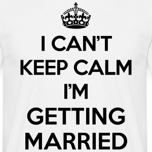 Keep Calm Married  T-shirts - Herre-T-shirt