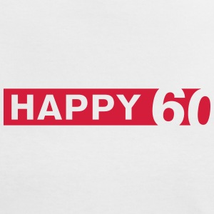 Happy 60 T-Shirts - Frauen Kontrast-T-Shirt