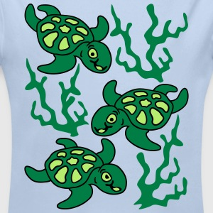 Turtles and Seaweed Hoodies - Longlseeve Baby Bodysuit
