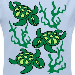 Turtles and Seaweed Sweats - Body bébé bio manches longues