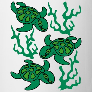 Turtles and Seaweed Bottles & Mugs - Mug