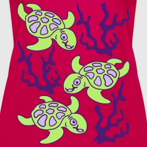 Turtles and Seaweed Tops - Women's Premium Tank Top