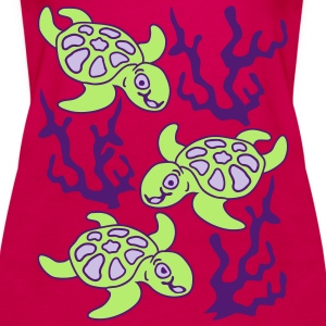 Turtles and Seaweed Tops - Frauen Premium Tank Top