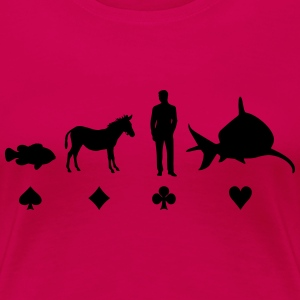 Evolution Poker T-shirts - Vrouwen Premium T-shirt