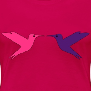 Hummingbirds in Love T-shirts - Premium-T-shirt dam