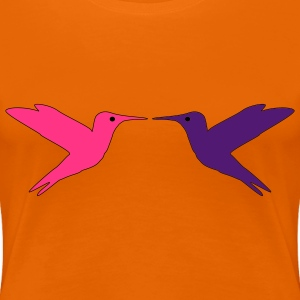 Hummingbirds in Love Camisetas - Camiseta premium mujer