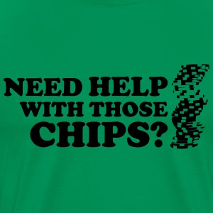 Poker: Need help with those chips? Camisetas - Camiseta premium hombre