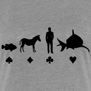 Evolution Poker T-Shirts - Frauen Premium T-Shirt