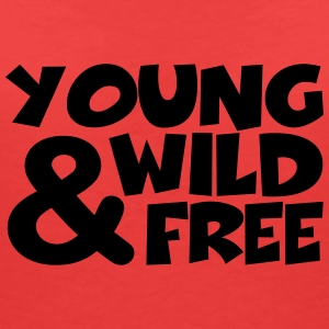 young, wild and free T-Shirts - Women's V-Neck T-Shirt