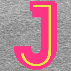 J neon pink yellow T-Shirts - Men's Premium T-Shirt